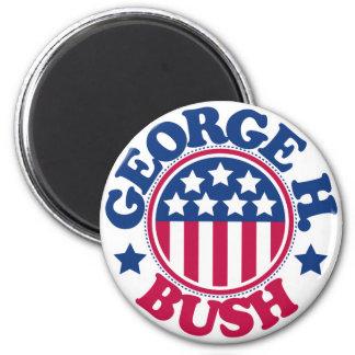US President George H Bush 6 Cm Round Magnet