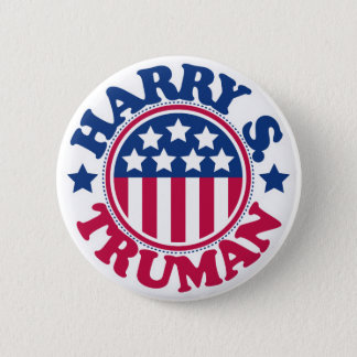 US President Harry S Truman 6 Cm Round Badge