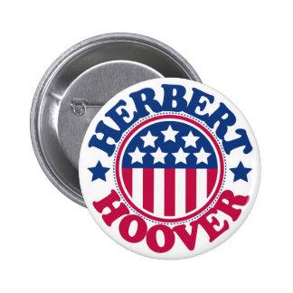 US President Herbert Hoover 6 Cm Round Badge