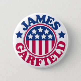 US President James Garfield 6 Cm Round Badge