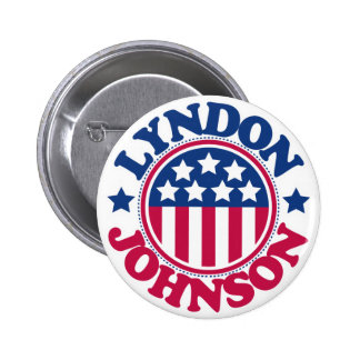 US President Lyndon Johnson 6 Cm Round Badge