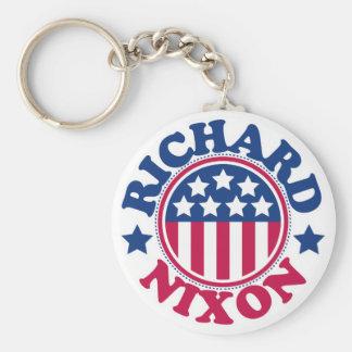 US President Richard Nixon Basic Round Button Key Ring