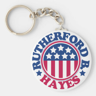 US President Rutherford Hayes Basic Round Button Key Ring