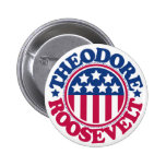 US President Theodore Roosevelt Pinback Buttons