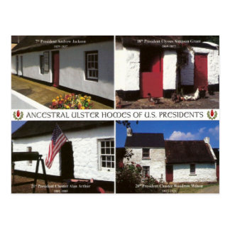 US Presidential homesteads in Ulster Postcard