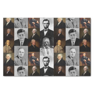 US Presidents Plus Hamilton and Franklin History Tissue Paper