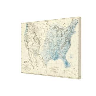 US Rain Chart Canvas Print
