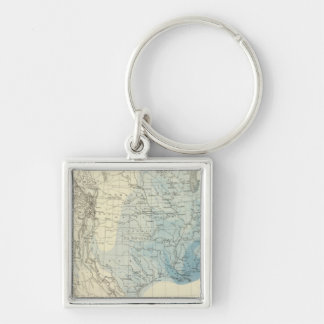 US Rain Chart Key Ring