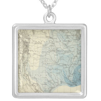US Rain Chart Silver Plated Necklace