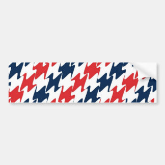 US Red White and Blue Sports Colors Bumper Sticker