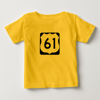US Route 61 Sign Baby T-Shirt