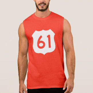 US Route 61 Sign Sleeveless Shirt