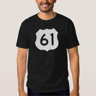 US Route 61 Sign T-shirts