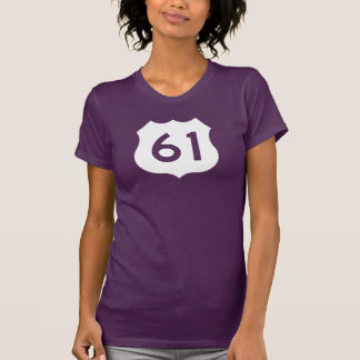 US Route 61 Sign T Shirts