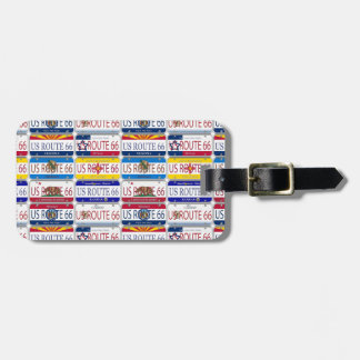 US ROUTE 66 All 8 States Vanity Plates Luggage Tag