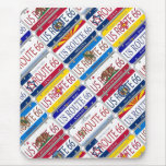 US ROUTE 66 All 8 States Vanity Plates Mousepad