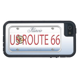 US ROUTE 66 Illinois Vanity Plate Case For iPhone 5