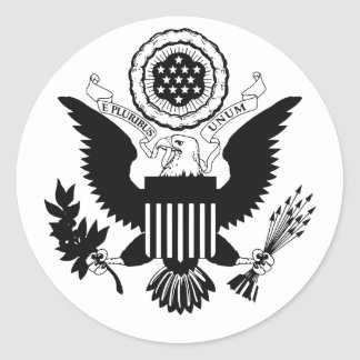US Seal Round Sticker