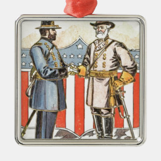 US Shield Union Confederate Soldier Christmas Ornament