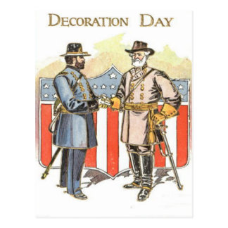 US Shield Union Confederate Soldier Postcard