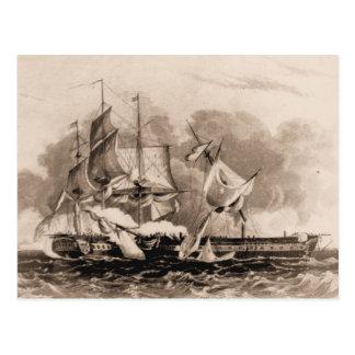 US ship Damage to Constellation Postcard