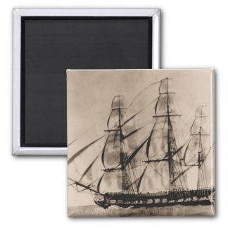 US ship Essex 1800 Square Magnet