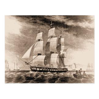 US ship Houston 1819 Postcard