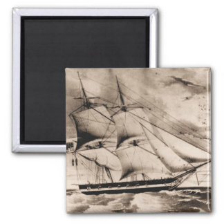 US Ship Somers 1842 Square Magnet
