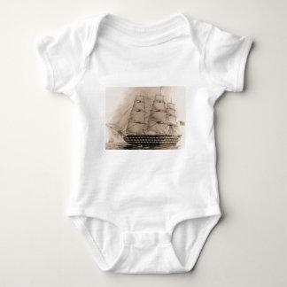 US Ships Pennsylvania 1817 Baby Bodysuit