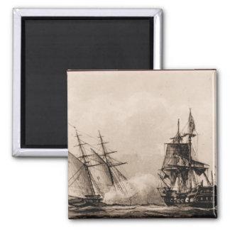US Ships Schooner Enterprise Square Magnet