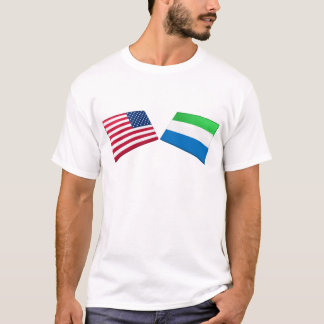 US & Sierra Leone Flags T-Shirt