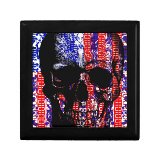 US Skull in a digital circuit Gift Box