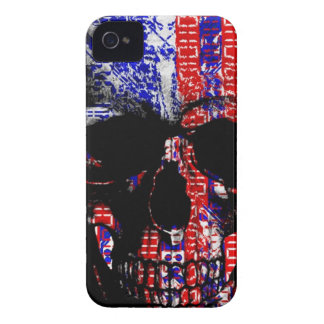US Skull in a digital circuit iPhone 4 Cover