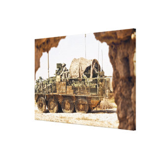 US Soldiers conduct a combat patrol in Afghanis Canvas Print
