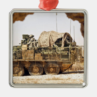US Soldiers conduct a combat patrol in Afghanis Christmas Ornament