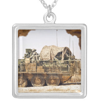 US Soldiers conduct a combat patrol in Afghanis Silver Plated Necklace