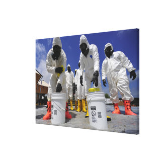 US Soldiers from the 457th Chemical Battalion Gallery Wrapped Canvas