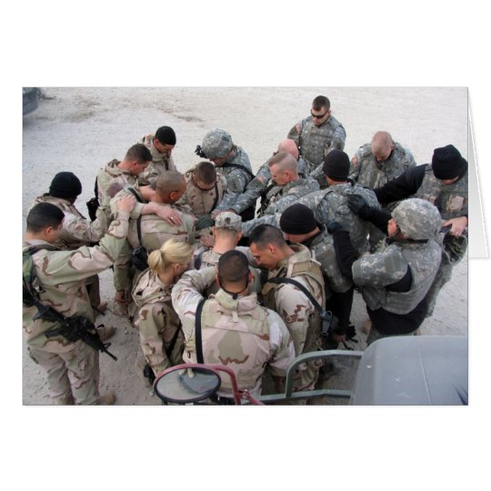 US Soldiers Praying - Customised Card