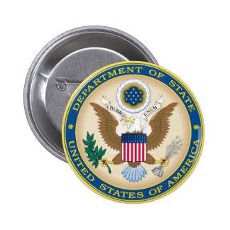 US State Department 6 Cm Round Badge