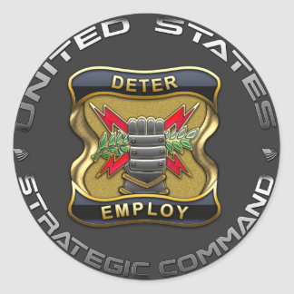 US Strategic Command Round Sticker