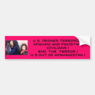 US Terrorizes Afghani Civilians Bumper Sticker