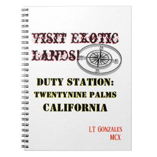 US Tour Twentynine Palms Cali Notebook