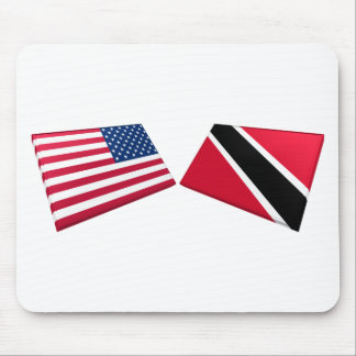 US Trinidad and Tobago Flags Mouse Mat