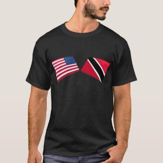 US & Trinidad and Tobago Flags T-Shirt