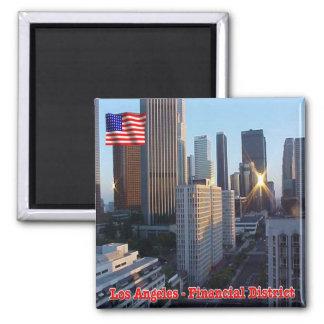 US U.S.A. Los Angeles Financial District Square Magnet