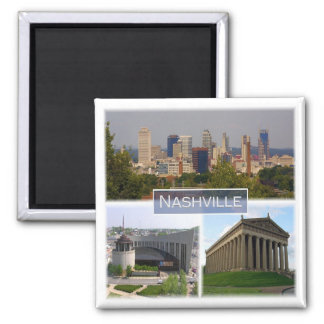 US * U.S.A. - Nashville Tennessee Square Magnet