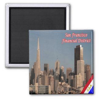 US U.S.A. San Francisco Alamo Square Financial Square Magnet