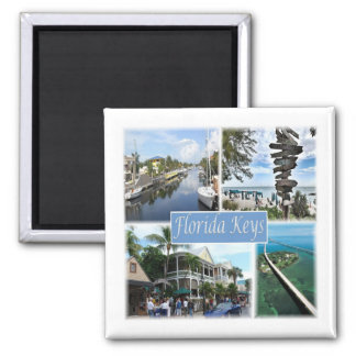 US * U.S.A. - The Florida Keys Square Magnet