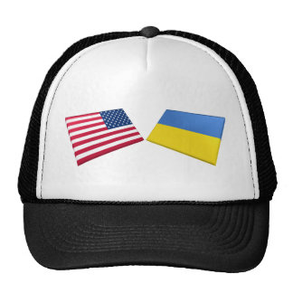 US & Ukraine Flags Cap