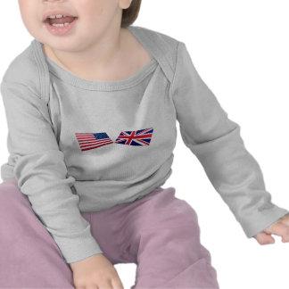US United Kingdom Flags Tshirts